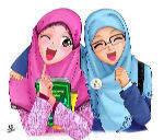 kartun-muslimah-comel-kacamata-selfie