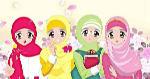 4-Pelajar-Muslimah-yang-cantik-dan-lucu-sedang-mebawa-buku