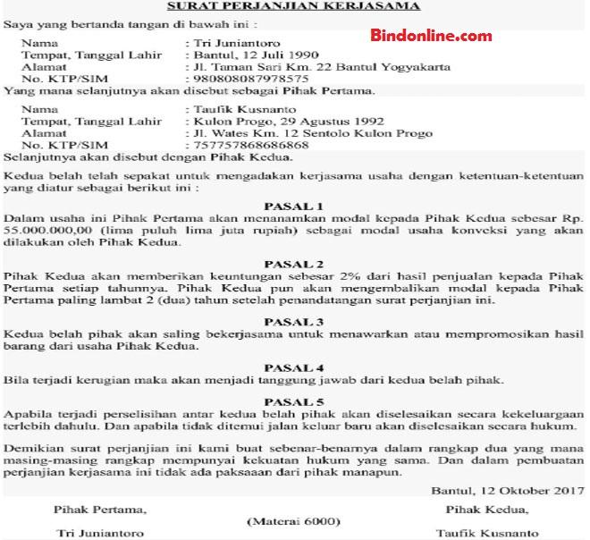 Contoh Surat Kontrak Kerja Antar Perusahaan - Berbagi ...