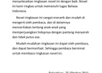 contoh kata pengantar novel