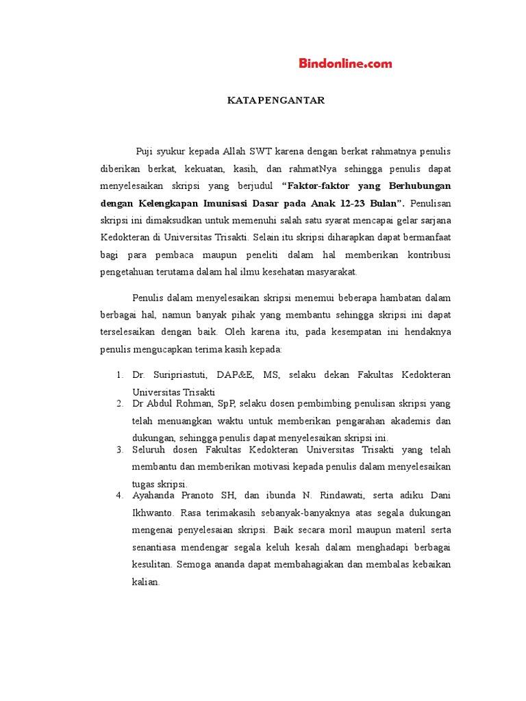Contoh Kata Pengantar Proposal Skripsi Pertanian