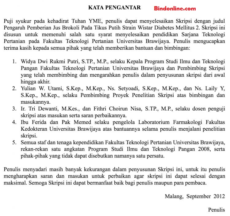 4 Contoh Kata Pengantar Skripsi Bahasa Indonesia dan ...
