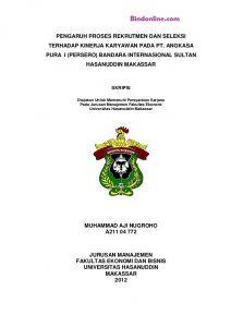 judul skripsi manajemen sdm 3 variabel