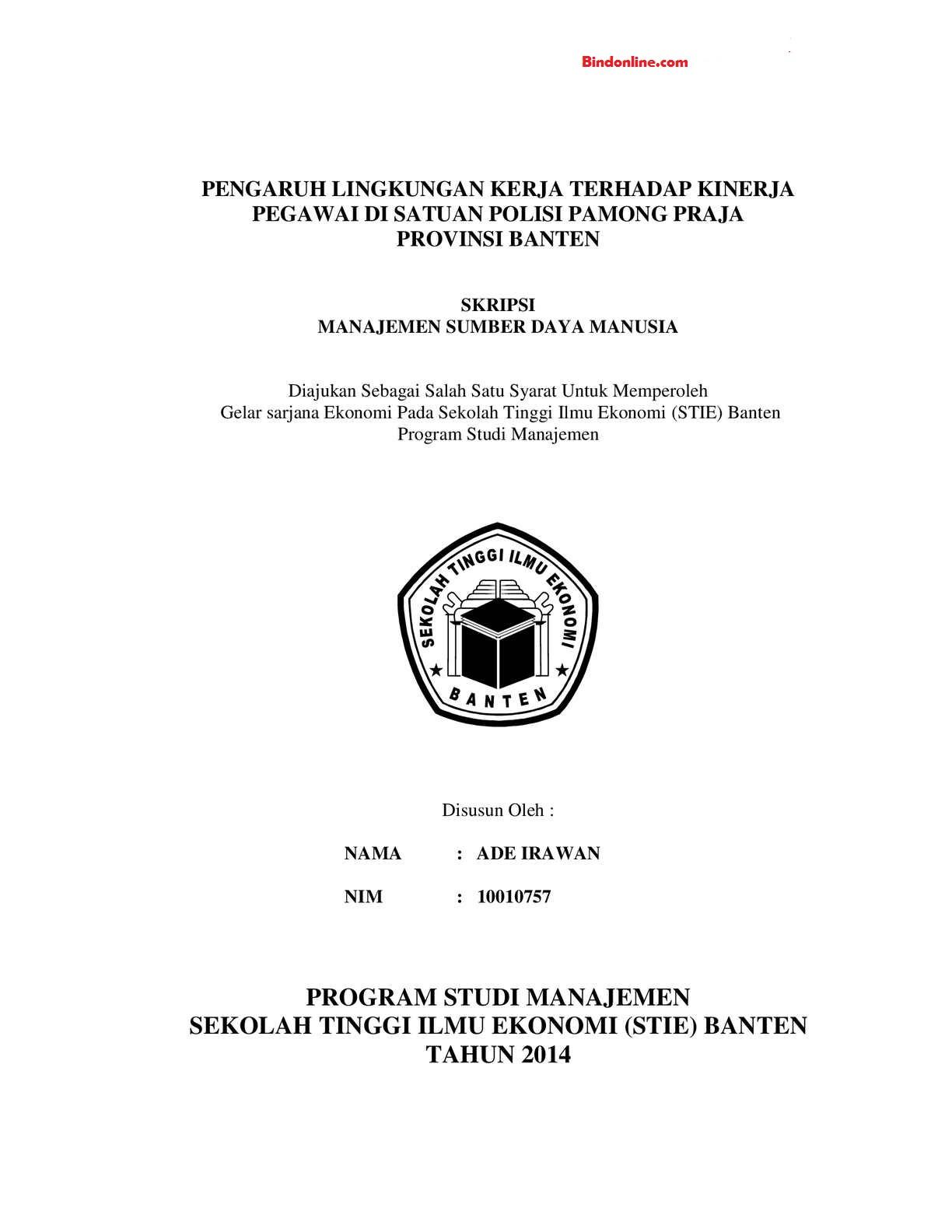 50 Contoh Judul Skripsi Manajemen Sdm Terlengkap