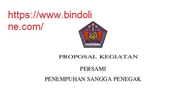 Contoh Proposal Kegiatan Sekolah Pramuka