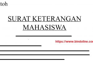 Contoh Surat Keterangan Mahasiswa
