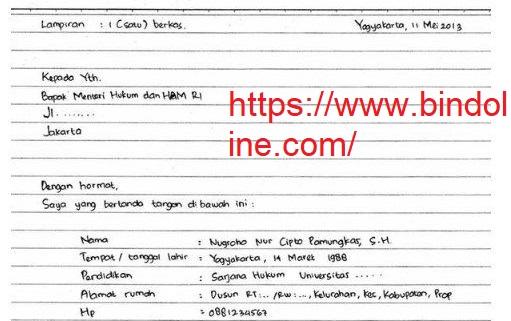 Contoh Surat Lamaran Tulis Tangan Terbaru