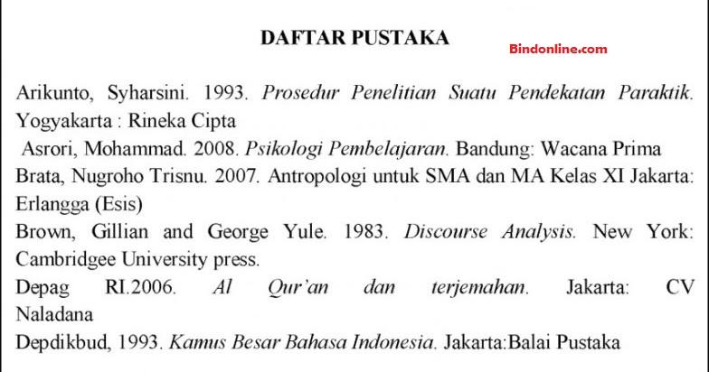 Penulisan daftar pustaka yang berasal dari buku